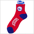 【期間限定価格】NBA Team Logo Short Crew Socks 赤/青/76ers