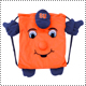 NCAA Mascot Backpack Pal�@�V���L���[�X�E�I�����W
