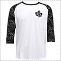 K1X Speckle Leaf Baseball 3/4 Sleeve 白/黒