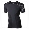 2XU Elite Compression S/S Top 黒/スティール