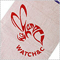 Watch&C COBEE-2 Circle Bath Towel 白/赤