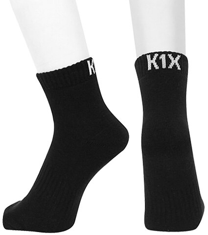 K1X Hardwood Kinda Invisible Socks Mk2 黒