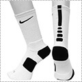 NIKE Elite Basketball Crew Socks 白/黒