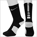 NIKE Elite Basketball Crew Socks 黒/白