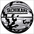 TACHIKARA Black Camo Basketball 黒/グレー/白/7号球