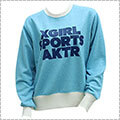 [レディースサイズ]X-girl Sports × AKTR Crewneck Sweat ブルー