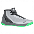 UNDER ARMOUR Curry 3 グレー/グリーン/黒