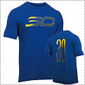 UNDER ARMOUR SC30 Faded Logo Tee ロイヤル