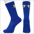 UNDER ARMOUR Basketball Crew Socks ロイヤル/タクシー