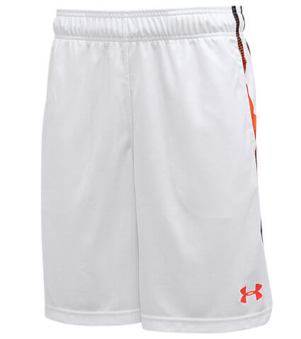 UNDER ARMOUR Select 9inch Shorts 白/フェニックスファイア