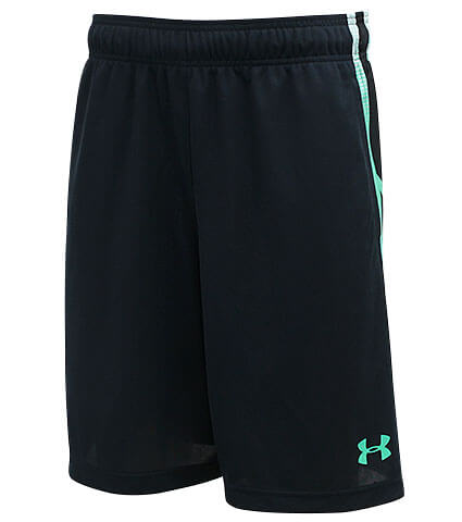 UNDER ARMOUR Select 9inch Shorts 黒/バポールグリーン