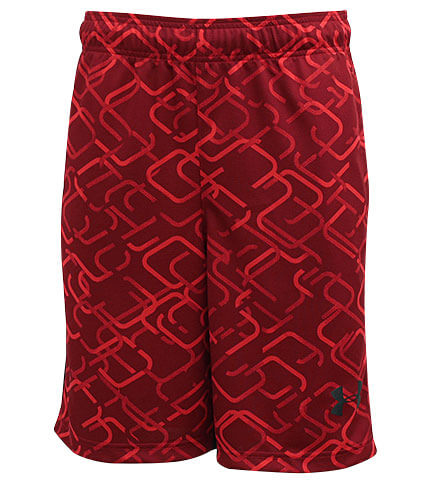 UNDER ARMOUR Cross Court 10inch Shorts 赤/黒