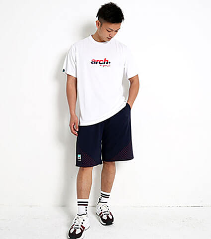 Arch Triangle Star Dot Shorts 紺