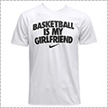 NIKE Basketball is my Girlfriends Tee 白/黒