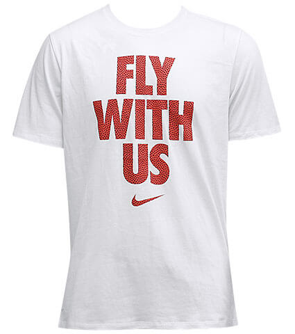 NIKE Fly with Us Tee 白