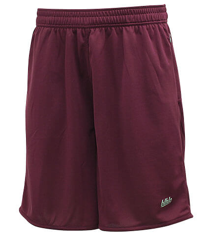 Ballaholic Basic Zip Shorts クリムゾン