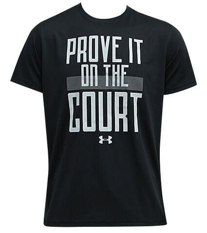 UNDER ARMOUR Tech Prove It On The Court Tee 黒
