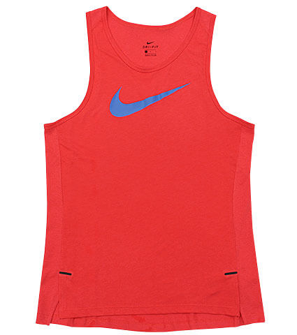 NIKE Bleeze Elite S/L Top トラックレッド