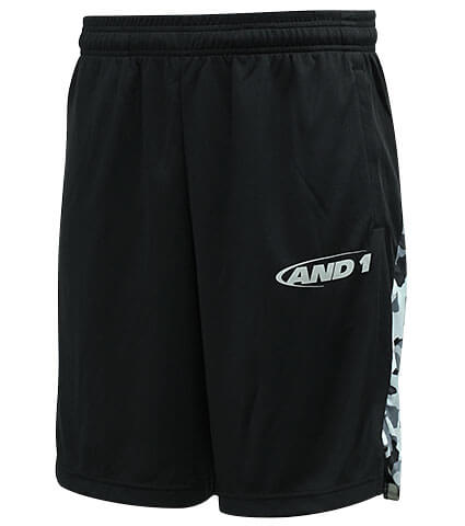 AND1 Slit Playercamo Short 黒