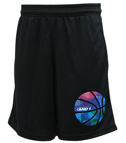AND1 Gradation Ball Short 黒