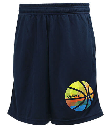 AND1 Gradation Ball Short 紺