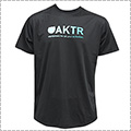 AKTR Bootleg Gradation Logo Sports Tee 黒