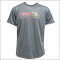AKTR Bootleg Gradation Logo Sports Tee グレー