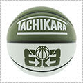 TACHIKARA 3x3 Game Basketball オリーブ/白/黒/6号球