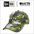 New Era x AKTR 9twenty Bounce Camo Cap オリーブ