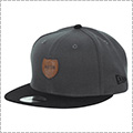 AKTR x New Era 9FIFTY Leather Patch Cap グレー/黒
