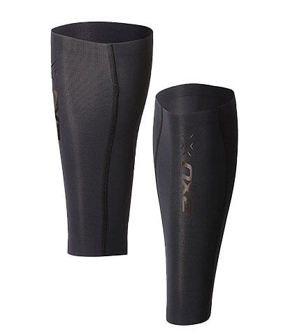 2XU Elite MCS Compression Calf Guard(両脚入) 黒/黒