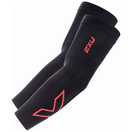 2XU Compression Arm Sleeves(両腕入) 黒/ピンクグロウ