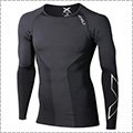 2XU Elite Compression L/S Top 黒/スティール