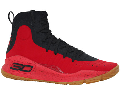 UNDER ARMOUR Curry 4 赤/黒/赤