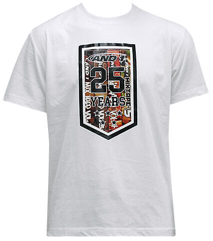 AND1 25th Anniversary Tee 白