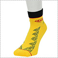 AND1 Zio Graphic Anklet Socks 黄/黒