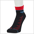 AND1 Zio Graphic Anklet Socks 黒/赤