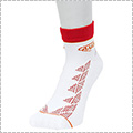 AND1 Zio Graphic Anklet Socks 白/赤