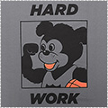AKTR Bootleg Nick Hard Work Sports Tee グレー