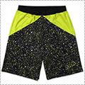 Arch Paint Splatter Shorts ライムイエロー/黒