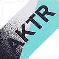 AKTR Bath Towel 白/ブルー