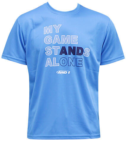 AND1 Stands Alone Tee スカイブルー