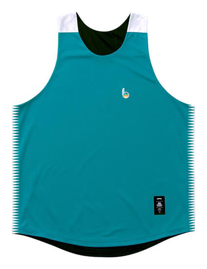Ballaholic b Playground Reversible Tops タイルブルー/黒