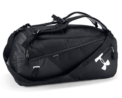 UNDER ARMOUR Contain Duffle Bag 4.0 黒/黒/シルバー