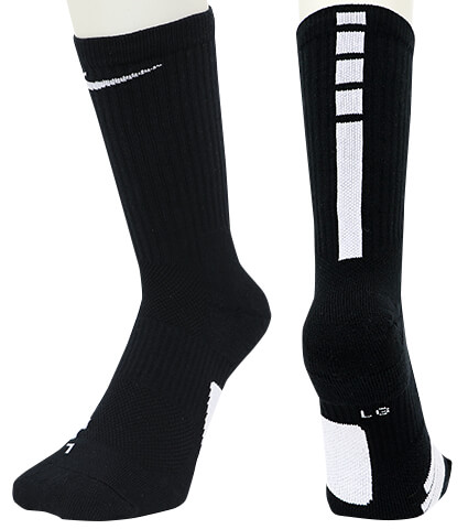 NIKE Elite Crew Socks 黒/白