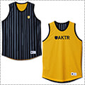 AKTR Brush Stripe Rev Tank 黒/黄