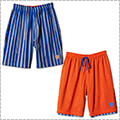 AKTR Brush Stripe Rev Shorts 青/オレンジ