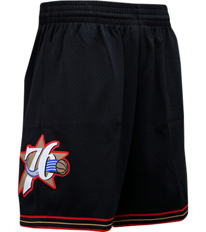 Mitchell&Ness Swingman Shorts Road Philadelphia 76ers 黒