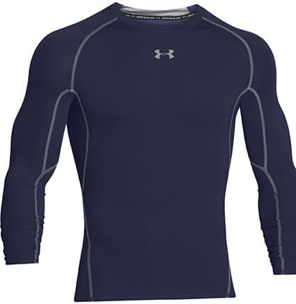 UNDER ARMOUR HG Armour L/S ミッドナイトネイビー/スティール