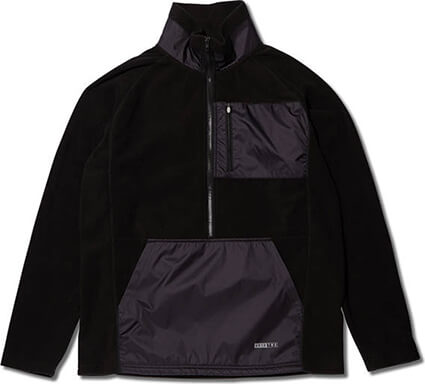 AKTR TWB Fleece Half Zip Top 黒
